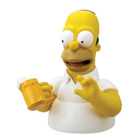 Busto Cofre Homer c/ Cerveja Monogram - The Simpsons - Bust Bank