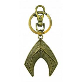Chaveiro Aquaman Logo de Metal Monogram - Pewter Keyring - DC Comics