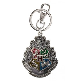 Chaveiro Brasão Casas Hogwarts Pewter Monogram - Harry Potter Hogwarts School Crest Keyring