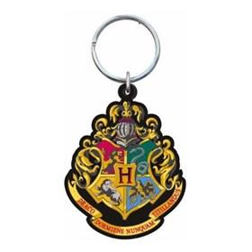 Chaveiro Brasão Casas Hogwarts PVC Monogram - Harry Potter Hogwarts School Crest Keyring