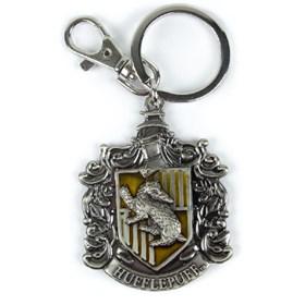 Chaveiro Casa Lufa Lufa de Metal Monogram - Harry Potter Hufflepuff Crest Pewter Keyring
