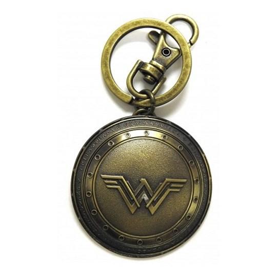 Chaveiro Escudo Mulher Maravilha de Metal Monogram - Wonder Woman