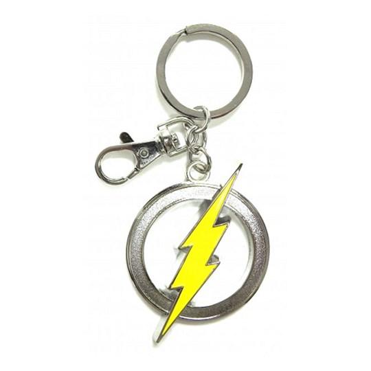 Chaveiro Flash Logo de Metal Monogram - Pewter Keyring - DC Comics
