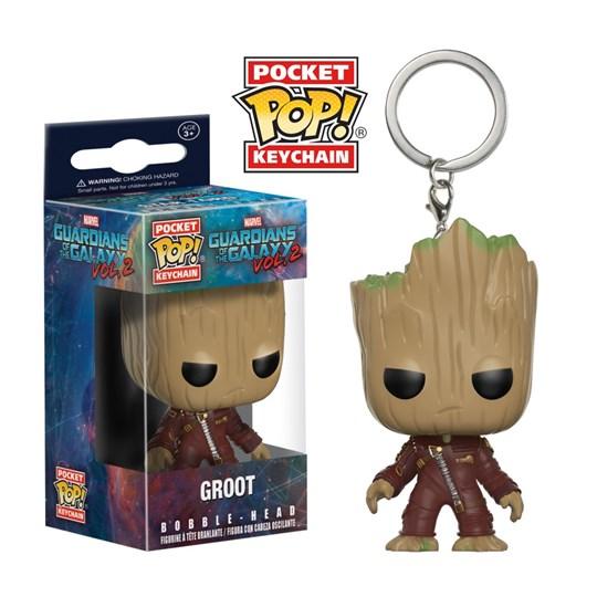 Chaveiro Groot - Pocket Pop Funko - Guardiões Galáxia 2 - Marvel