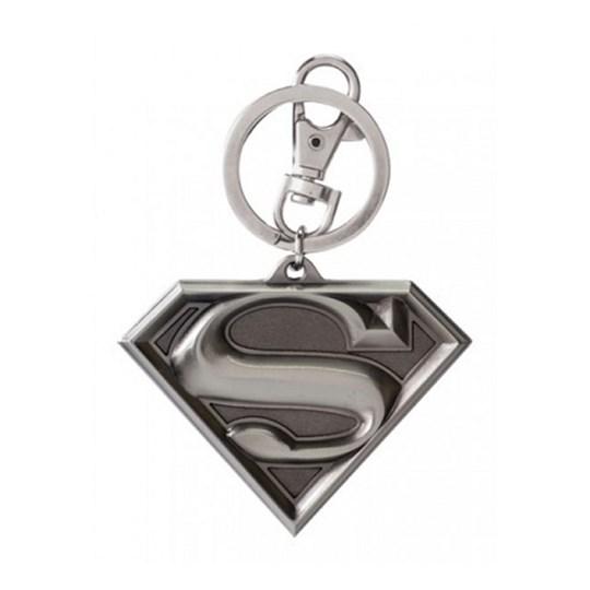 Chaveiro Superman de Metal Logo Monogram -  Pewter Keyring - DC Comics