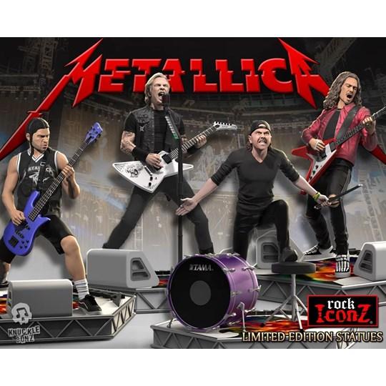 Conjunto Completo Estátuas Metallica Knucklebonz - Rock Iconz Statue