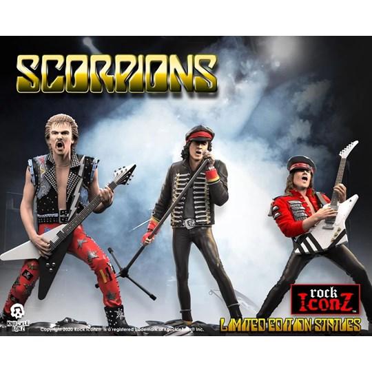 Conjunto Completo Estátuas Scorpions Knucklebonz - Rock Iconz Statue