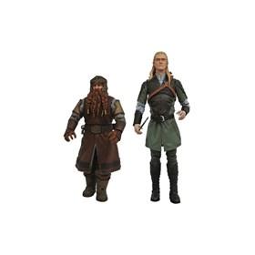Conjunto Legolas e Gimli O Senhor dos Anéis Lord of the Rings Diamond Select