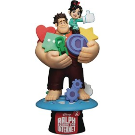 Diorama Wreck-It Ralph 2 DS-056 Ralph com Vanellope D-Stage Dream Select - Detona Ralph - Disney - B