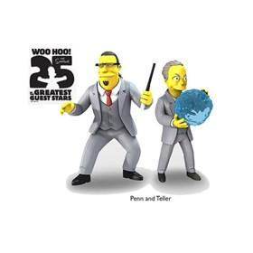 Dupla Penn e Teller Simpsons 25 of the Greatest Guest Stars Série 3 NECA