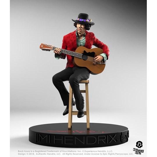 Estátua Jimi Hendrix II Knucklebonz - Rock Iconz Statue