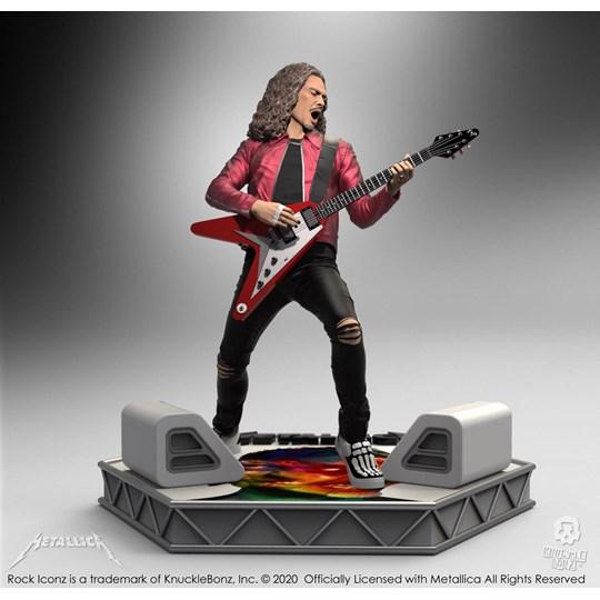 Estátua Kirk Hammett Knucklebonz - Metallica - Rock Iconz Statue