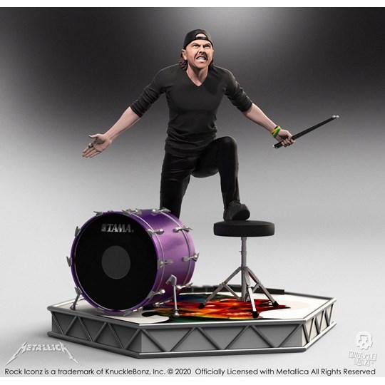 Estátua Lars Ulrich Knucklebonz - Metallica - Rock Iconz Statue