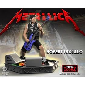Estátua Robert Trujillo Knucklebonz - Metallica - Rock Iconz Statue