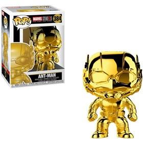 Funko Pop Ant-Man Gold Chrome #384 Homem-Formiga - Dourado Marvel 10 Years Edition