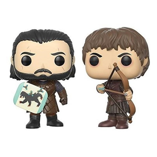 Funko Pop Batalha Dos Bastardos Jon Snow e Ransay Bolton - 2- Pack -  Game Of Thrones