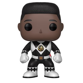 Funko Pop Black Ranger #672 - Zack No Helmet - Power Rangers Preto