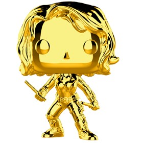 Funko Pop Black Widow Gold Chrome #380 - Dourado 10 Years Edition - Marvel