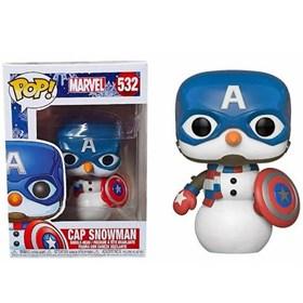 Funko Pop Cap Snowman #532 Holiday Captain America - Marvel