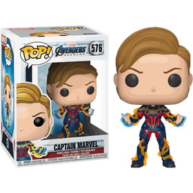 Funko Pop Captain Marvel New Hair #576 - Avengers Endgame - Vingadores Ultimato - Marvel Heroes