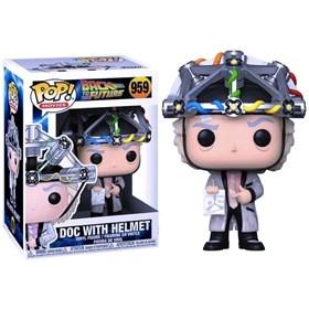 Funko Pop Doc with Helmet #959 - Back to the Future - De Volta para o Futuro