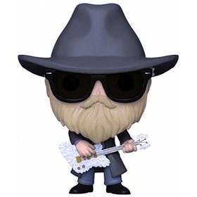 Funko Pop Dusty Hill (Flocked) #165 - ZZTop - Pop Rocks!