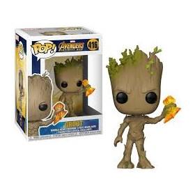 Funko Pop Groot with Stormbreaker #416 - Avengers Infinity War - Vingadores Guerra Infinita - Marvel