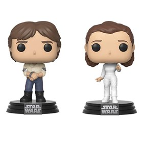 Funko Pop Han Solo & Princesa Leia #2-Pack - Star Wars