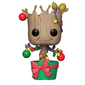 Funko Pop Holiday Groot #399 - Guardiões da Galáxia - Marvel