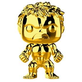 Funko Pop Hulk Gold Chrome #379 - Dourado 10 Years Edition - Marvel