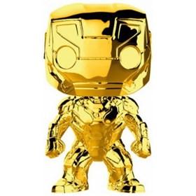 Funko Pop Iron Man Gold Chrome #375 - Dourado 10 Years Edition - Marvel