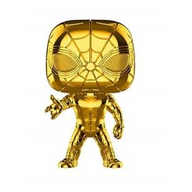 Funko Pop Iron Spider Gold Chrome #440 Aranha de Ferro - 10 Years Edition Dourado - Marvel