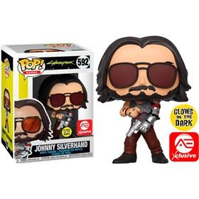 Funko Pop Johnny Silverhand Glow in the Dark #592 - AE Exclusivo - Cyberpunk 2077