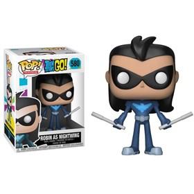 Funko Pop Robin as Nightwing #580 - Teen Titans Go - Jovens Titãs em Ação - DC Comics