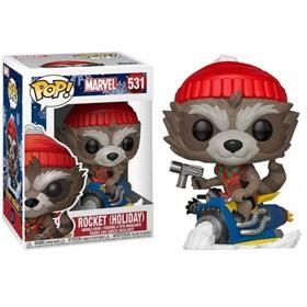 Funko Pop Rocket Holiday #531 Rocket Raccoon de Natal - Marvel
