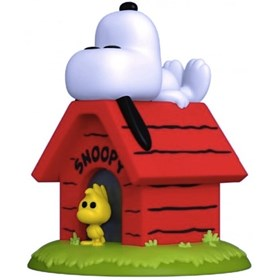 Funko Pop Snoopy & Woodstock on Doghouse #856 - Peanuts - Turma do Charlie Brown Minduim