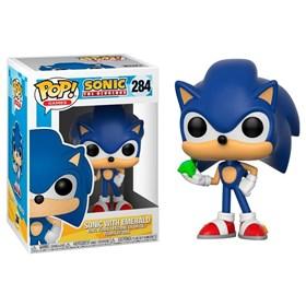 Funko Pop Sonic With Emerald #284 - Sonic Com Esmeralda - Games