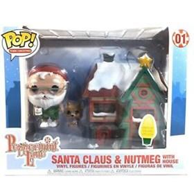 Funko Pop Town Christmas Santa Claus & Nutmeg with House #01 - Peppermint Lane