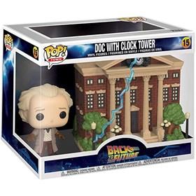 Funko Pop Town Doc with Clock Tower #15 - Back to the Future - De Volta para o Futuro