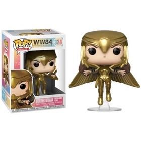 Funko Pop Wonder Woman Golden Armor Flying #324 - Mulher-Maravilha - DC Comics