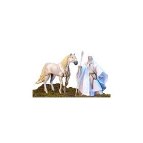 Gandalf e Scadufax(Shadowfax) Duas Torres O Senhor dos Anéis Toy Biz