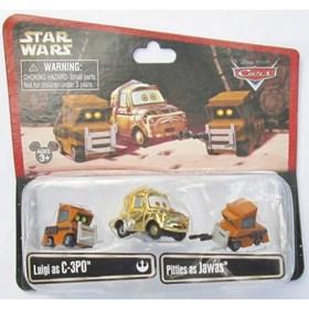 Luigi como C-3PO e Pitties como Jawas Star Wars Weekends 2014 Cars Disney Pixar Mattel