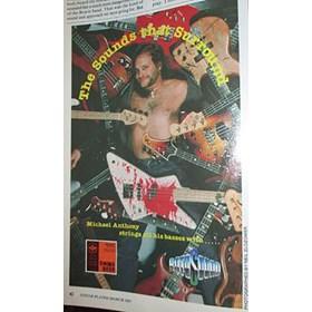Réplica Baixo Guitarra Miniatura Michael Anthony Blood Van Halen Axe Heaven