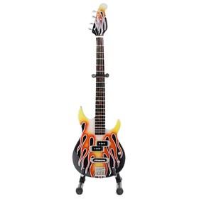 Réplica Baixo Guitarra Miniatura Michael Anthony Flame Van Halen Axe Heaven