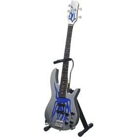 Réplica Baixo Guitarra Miniatura Robert Trujillo Blue Flame Metallica Axe Heaven