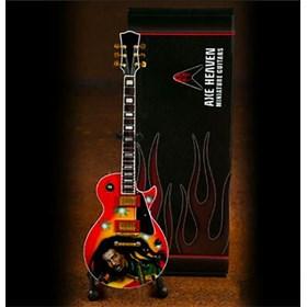 Réplica Guitarra Miniatura Bob Marley Rasta Reggae Tribute Axe Heaven