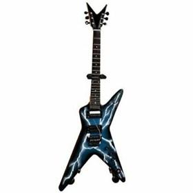 Réplica Guitarra Miniatura Dimebag Darrell Lightning Bolt Pantera Axe Heaven