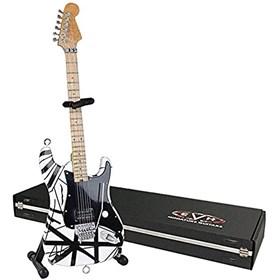 Réplica Guitarra Miniatura Eddie Van Halen VH1 Black & White Axe Heaven