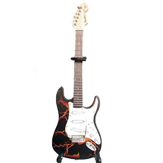 Réplica Guitarra Miniatura Famous Burnt Fender Stratocaster Axe Heaven