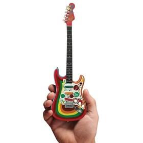 Réplica Guitarra Miniatura George Harrison Fender Stratocaster Rocky Axe Heaven